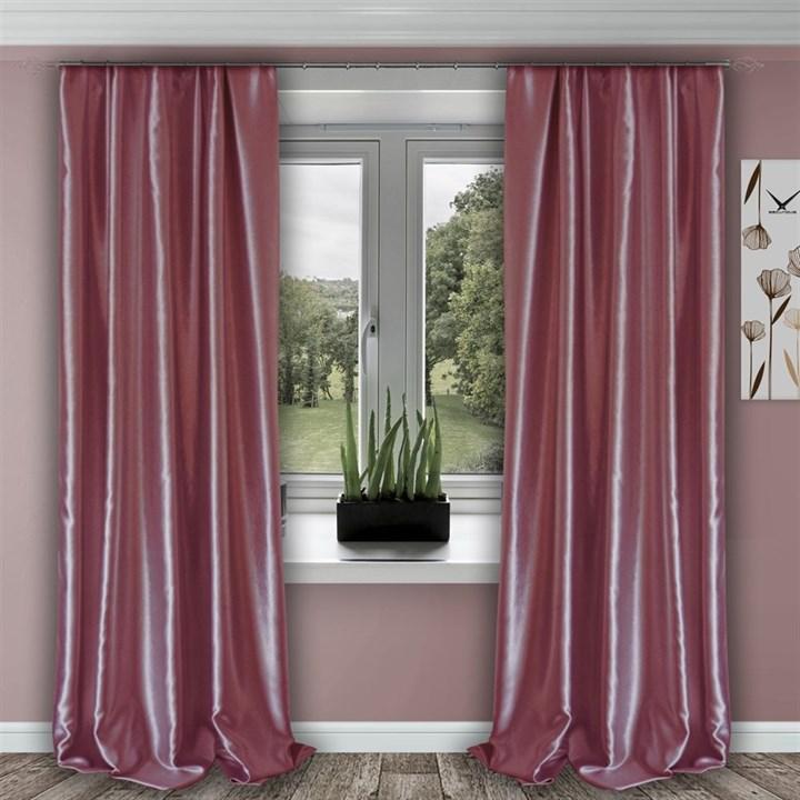 Готовые шторы Шарлиз розовые - фото 103893