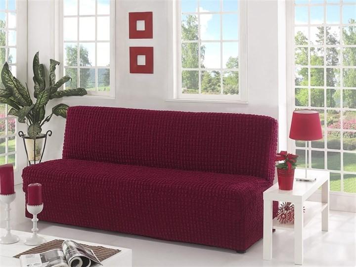 BORDO Чехол на 3-х местный диван без подлокотников от 170 до 220 см бордовый - фото 10616