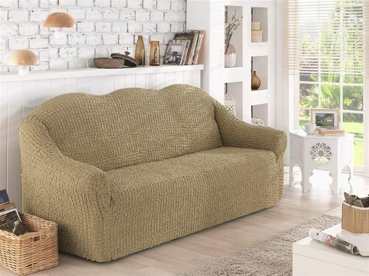 BEIGE Чехол на 2-х местный диван от 120 до 170 см бежевый - фото 10622