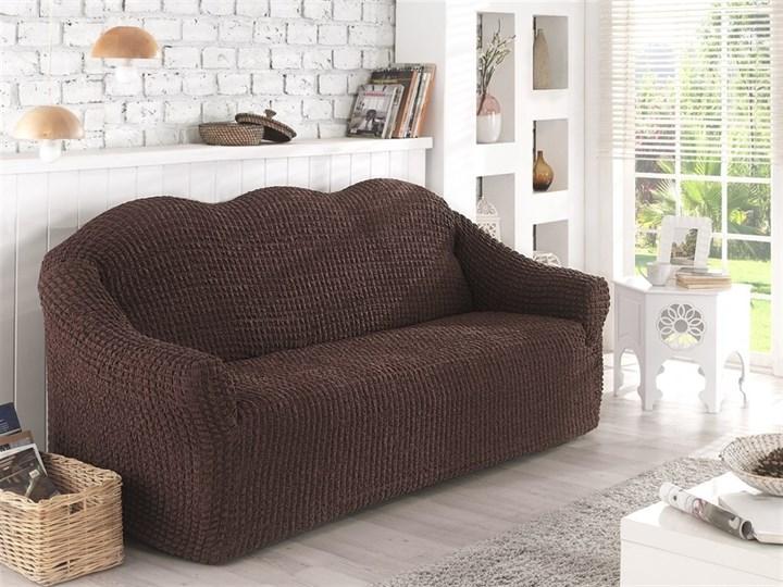 BRAUN Чехол на 2-х местный диван от 120 до 170 см коричневый - фото 10624