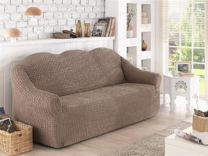 COFFEE Чехол на 2-х местный диван от 120 до 170 см капуччино - фото 10625