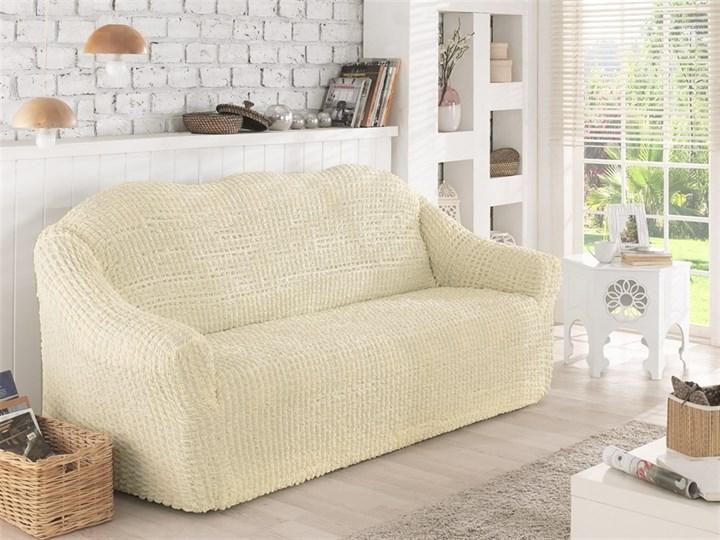 CREAM Чехол на 2-х местный диван от 120 до 170 см молочный - фото 10626
