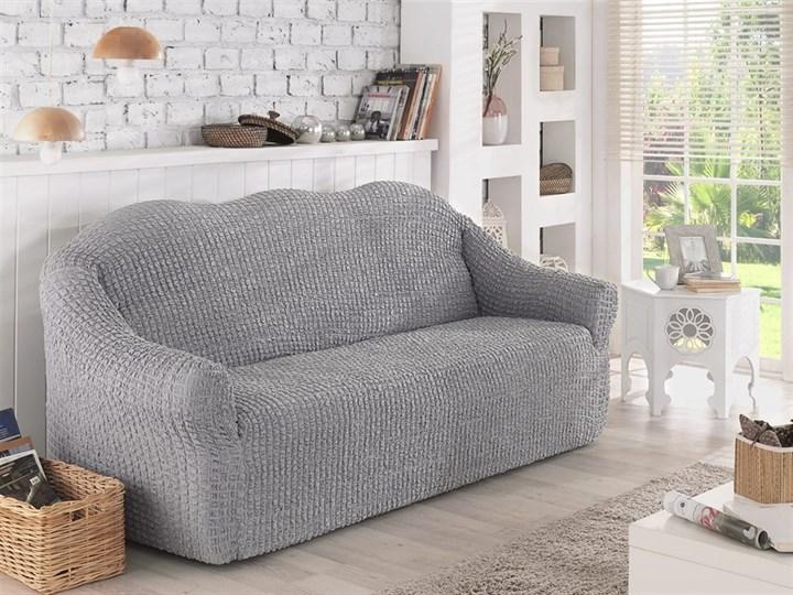 GREY Чехол на 2-х местный диван от 120 до 170 см серый - фото 10628