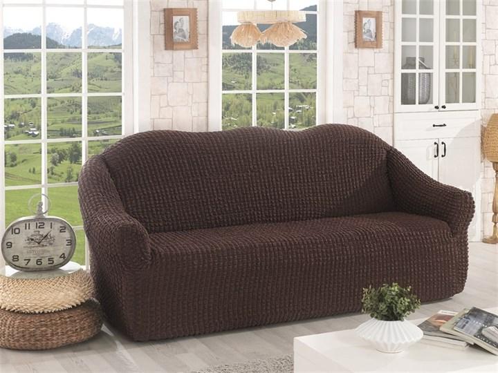 BRAUN Чехол на 3-х местный диван от 170 до 240 см коричневый - фото 10631