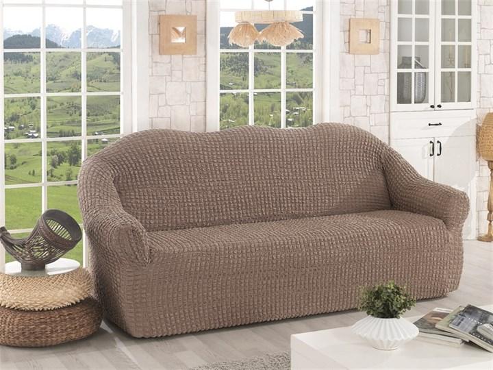COFFEE Чехол на 3-х местный диван от 170 до 240 см капуччино - фото 10632