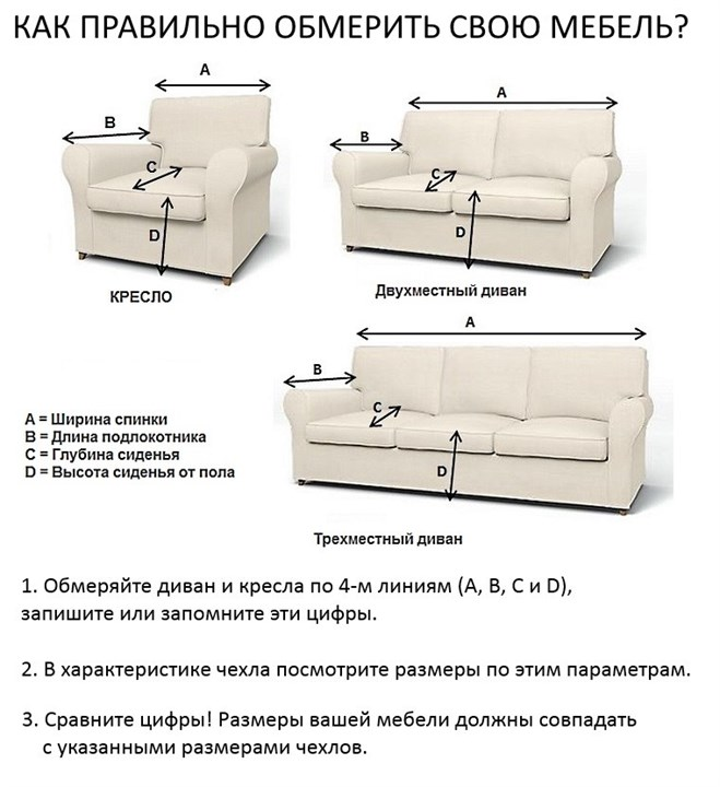 набор чехлов Beige на 3 мест диван и 2 кресла бежевый 4 455 руб