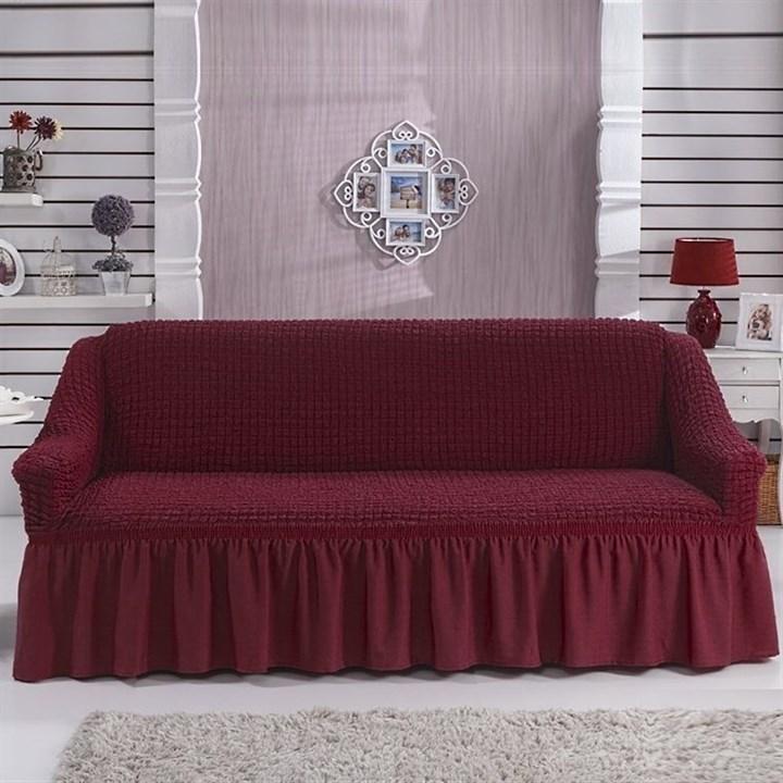 BORDO Чехол на 3-х местный диван от 170 до 240 см бордовый - фото 10751