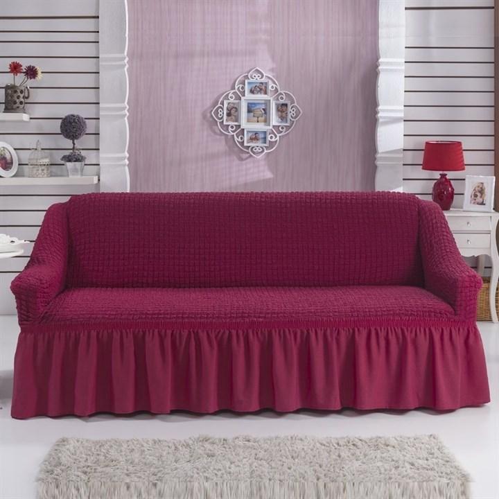 FUCHSIA Чехол на 3-х местный диван от 170 до 240 см бургундский - фото 10763