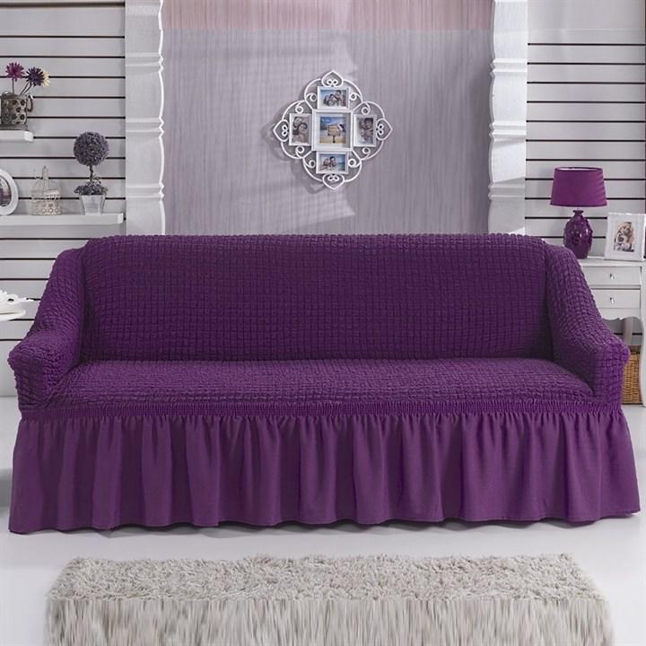 VIOLET Чехол на 3-х местный диван от 170 до 240 см фиолетовый - фото 10798