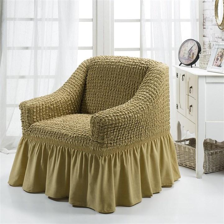 BEIGE Чехол для кресла от 70 до 120 см бежевый - фото 10836