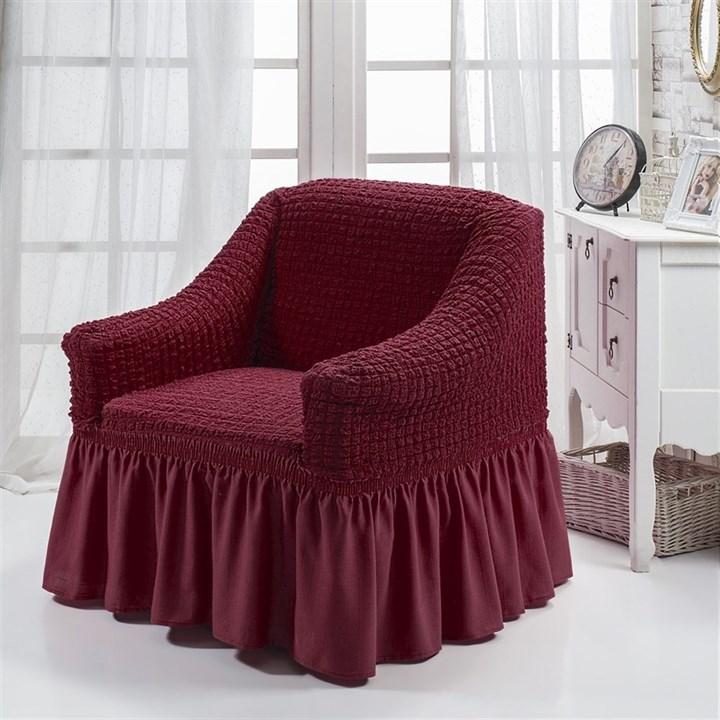 BORDO Чехол для кресла от 70 до 120 см бордовый - фото 10841
