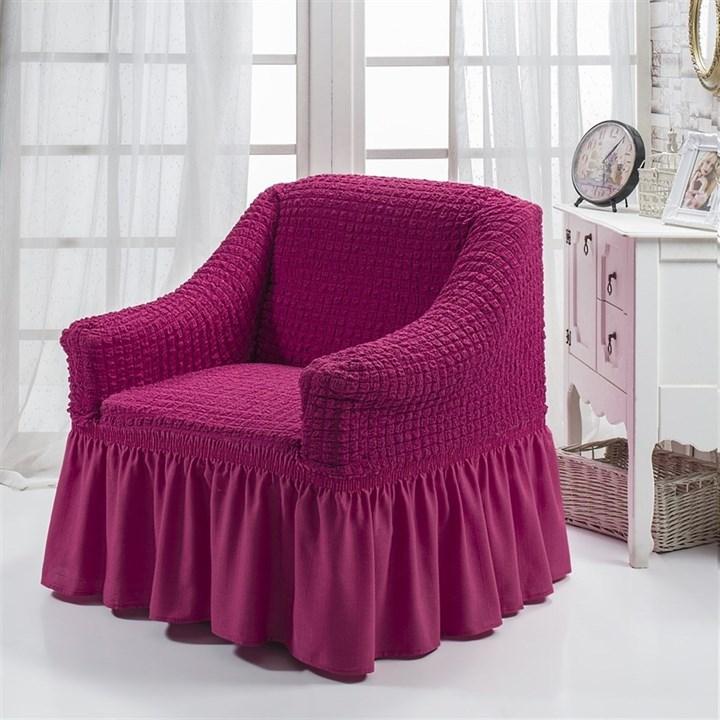 FUCHSIA Чехол для кресла от 70 до 120 см бургундский - фото 10846