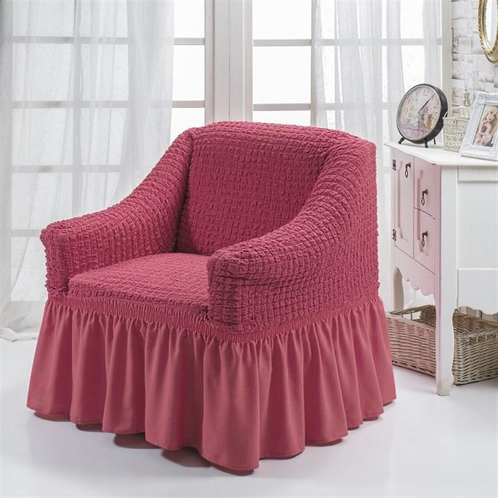 DARK ROSE Чехол для кресла от 70 до 120 см кораллово-розовый - фото 10850