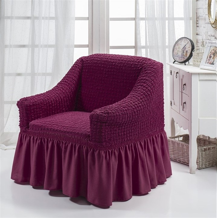 BRIGHT LAVENDER Чехол для кресла от 70 до 120 см бургундский - фото 10895