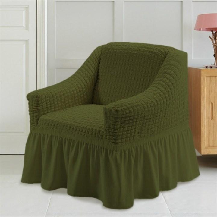 GREEN Чехол для кресла от 70 до 120 см зеленый - фото 10903