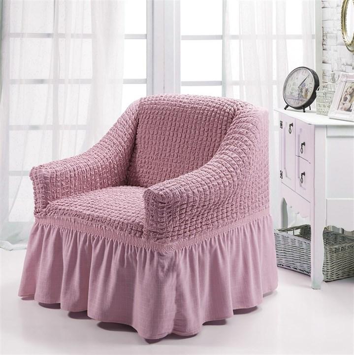 ROSE Чехол для кресла от 70 до 120 см розовый - фото 10913