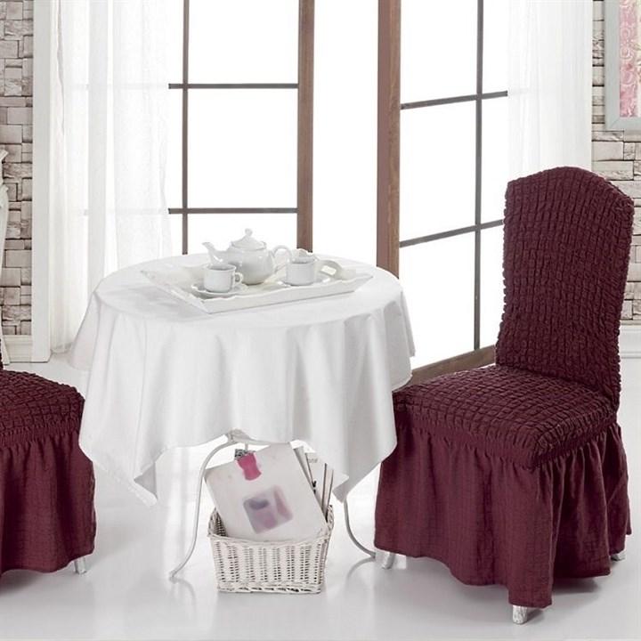 BORDO Чехлы на стулья со спинкой (2 шт.) бордовые - фото 10988