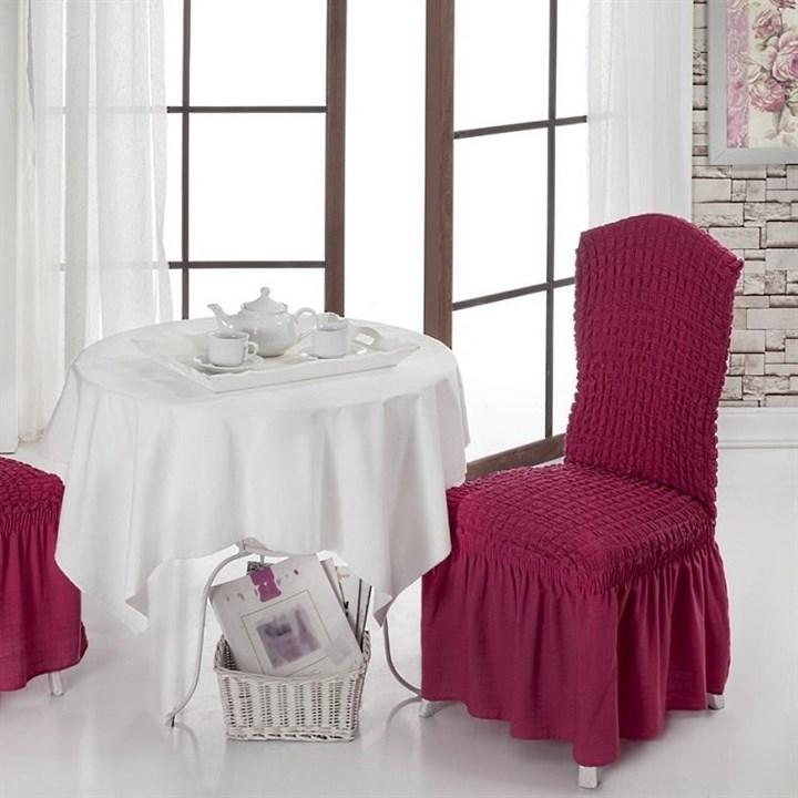 FUCHSIA Чехлы на стулья со спинкой (2 шт.) бургундские - фото 10990