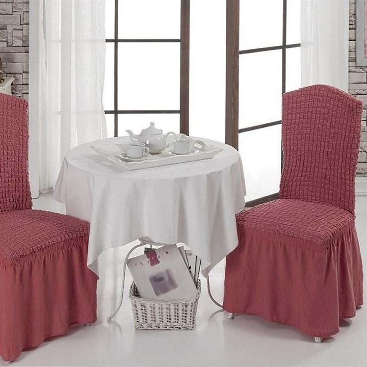 DARK ROSE Чехлы на стулья со спинкой (2 шт.) кораллово-розовые - фото 10991
