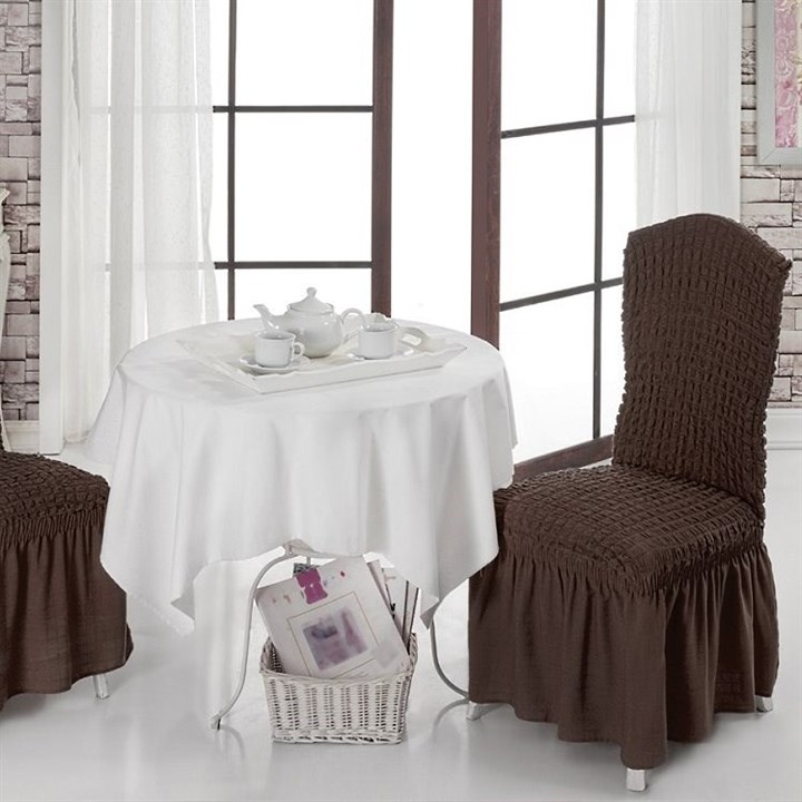 BRAUN Чехлы на стулья со спинкой (2 шт.) коричневые - фото 10993