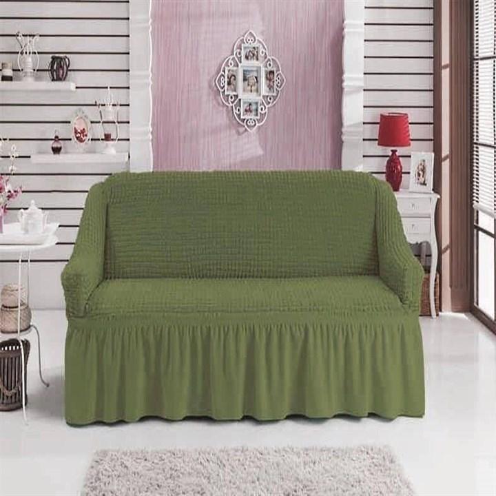 GREEN Чехол на 2-х местный диван от 120 до 170 см зеленый - фото 11042