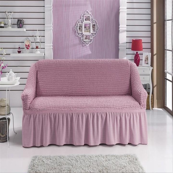 ROSE Чехол на 2-х местный диван от 120 до 170 см розовый - фото 11062