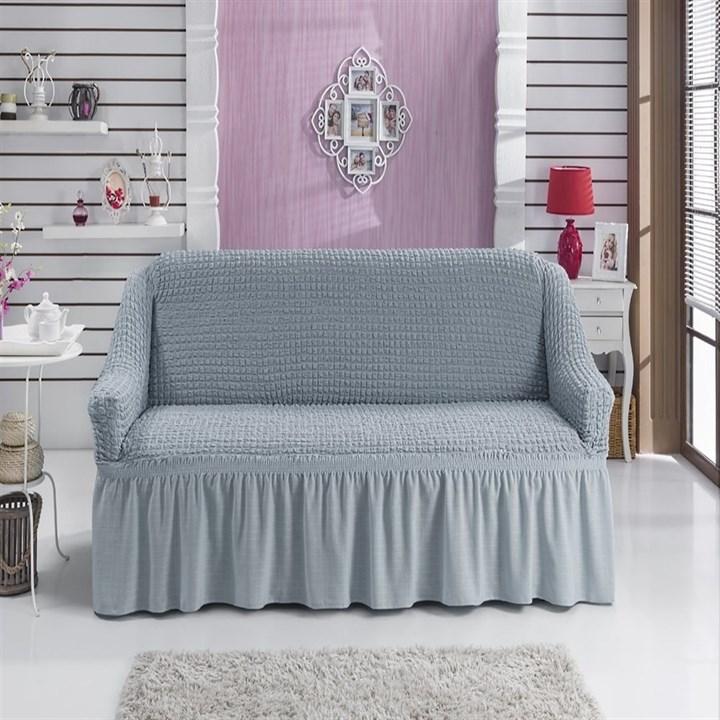 GREY Чехол на 2-х местный диван от 120 до 170 см серый - фото 11066