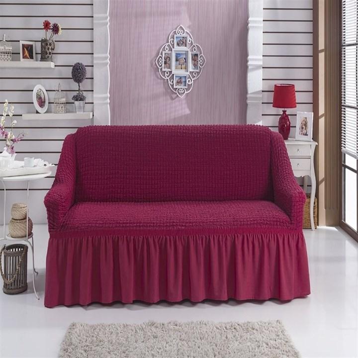 FUCHSIA Чехол на 2-х местный диван от 120 до 170 см бургундский - фото 11071