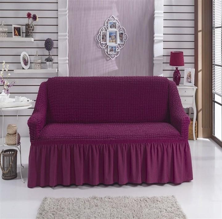BRIGHT LAVENDER Чехол на 2-х местный диван от 120 до 170 см бургундский - фото 11075