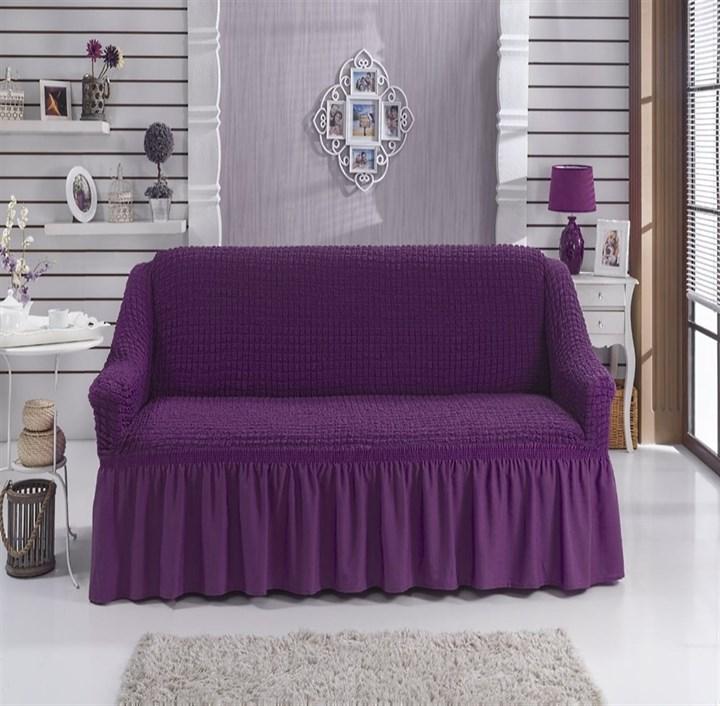 VIOLET Чехол на 2-х местный диван от 120 до 170 см фиолетовый - фото 11083