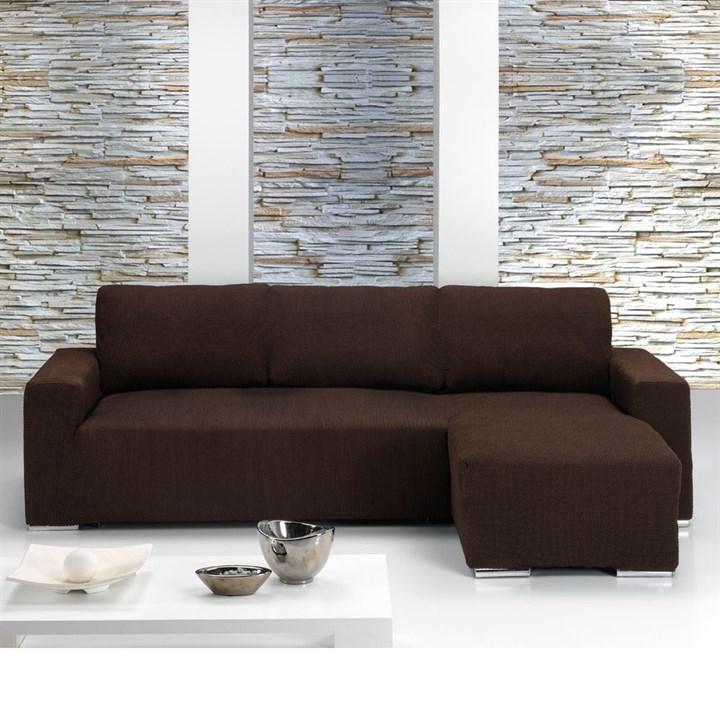 АЛЯСКА МАРОН Чехол на угловой диван с выступом справа - фото 11623