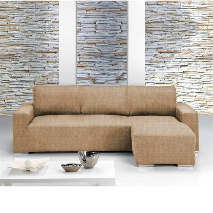 ТЕЙДЕ БЕЖ Чехол на угловой диван с выступом справа - фото 11631