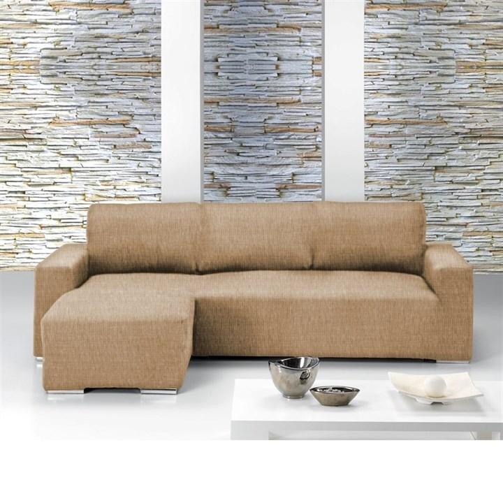 ТЕЙДЕ БЕЖ Чехол на угловой диван с выступом слева - фото 11634