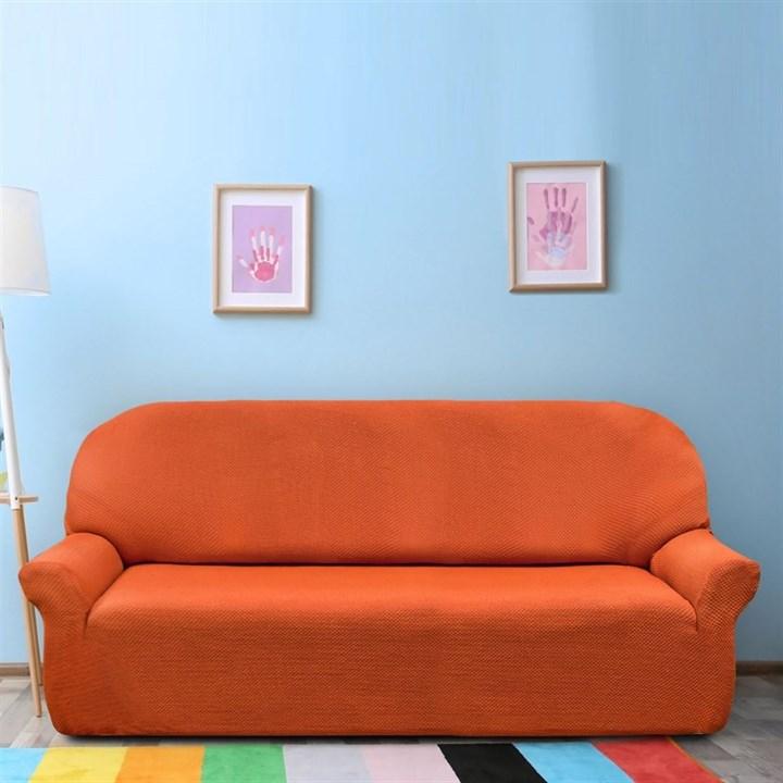 АЛЯСКА НАРАНИЯ Чехол на 4-х местный диван от 230 до 270 см - фото 11772