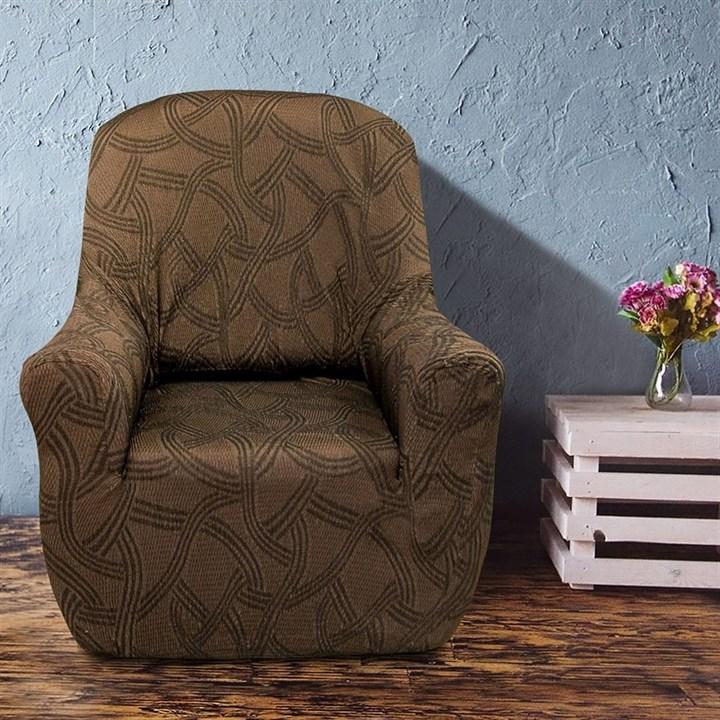 НАНТ МАРОН Чехол на кресло от 70 до 110 см - фото 11794