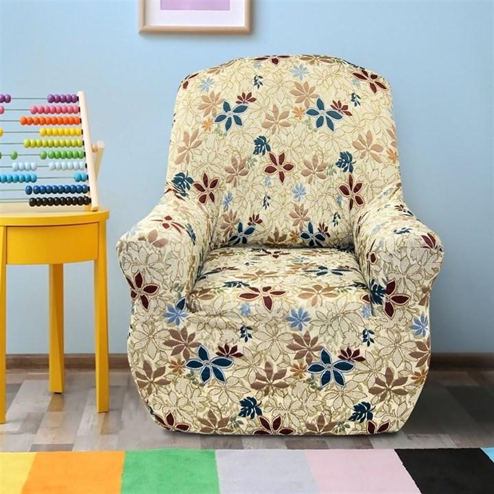 ДУНИЯ Чехол на кресло от 70 до 110 см - фото 11803
