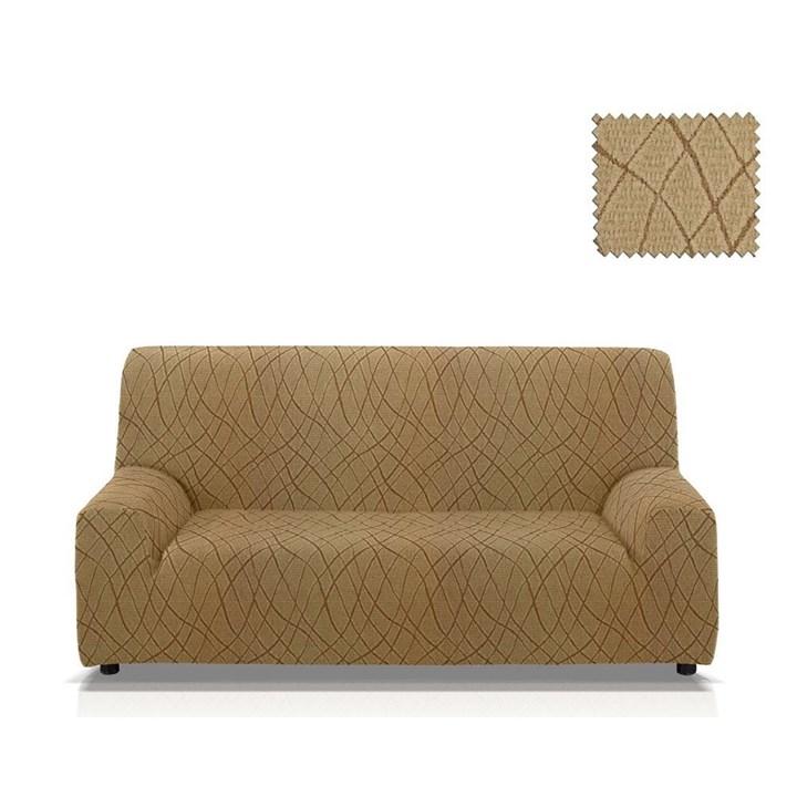 КАРЕН БЕЖ Чехол на 3-х местный диван от 170 до 230 см - фото 11825