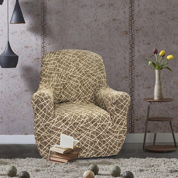 ГРЕЦИЯ МАРОН Чехол на кресло от 70 до 110 см - фото 11835