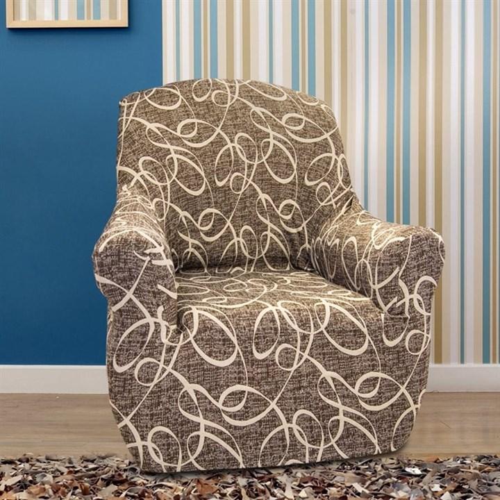 ПЕРСИЯ МАРОН Чехол на кресло от 70 до 110 см - фото 11842