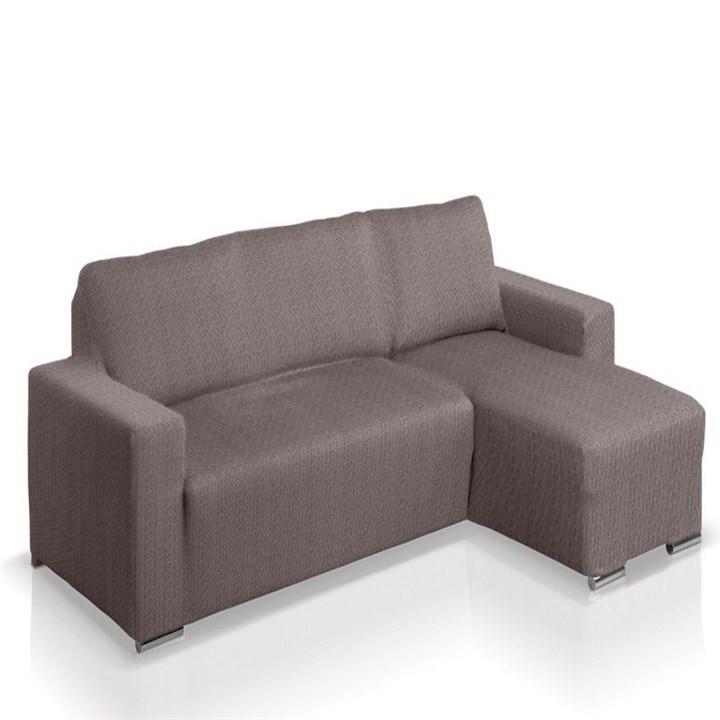 АЛЯСКА ГРИС Чехол на угловой диван с выступом справа - фото 11853