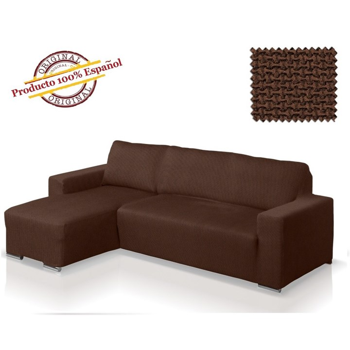 АЛЯСКА МАРОН Чехол на угловой диван с выступом слева - фото 11856