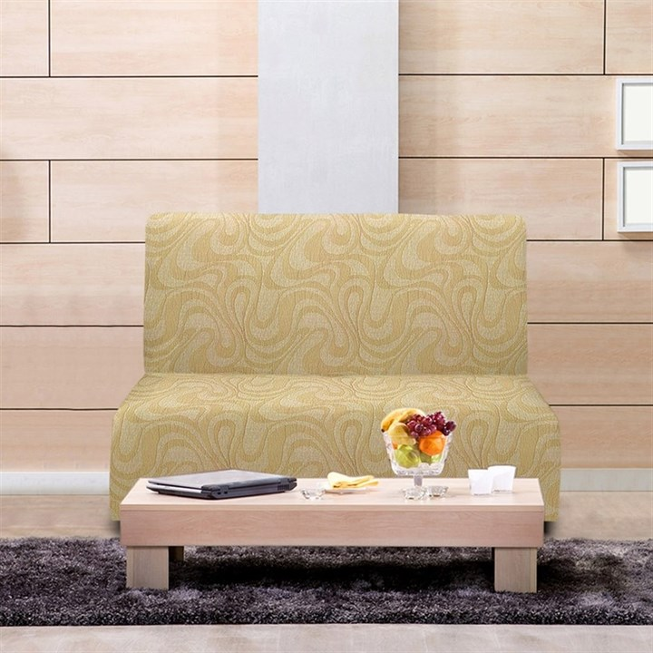 ДАНУБИО БЕЖ Чехол на диван без подлокотников от 160 до 210 см - фото 11900
