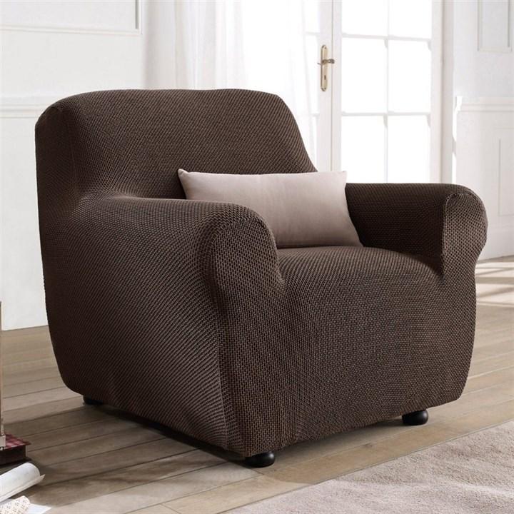 АЛЯСКА МАРОН Чехол на кресло от 70 до 110 см - фото 11904
