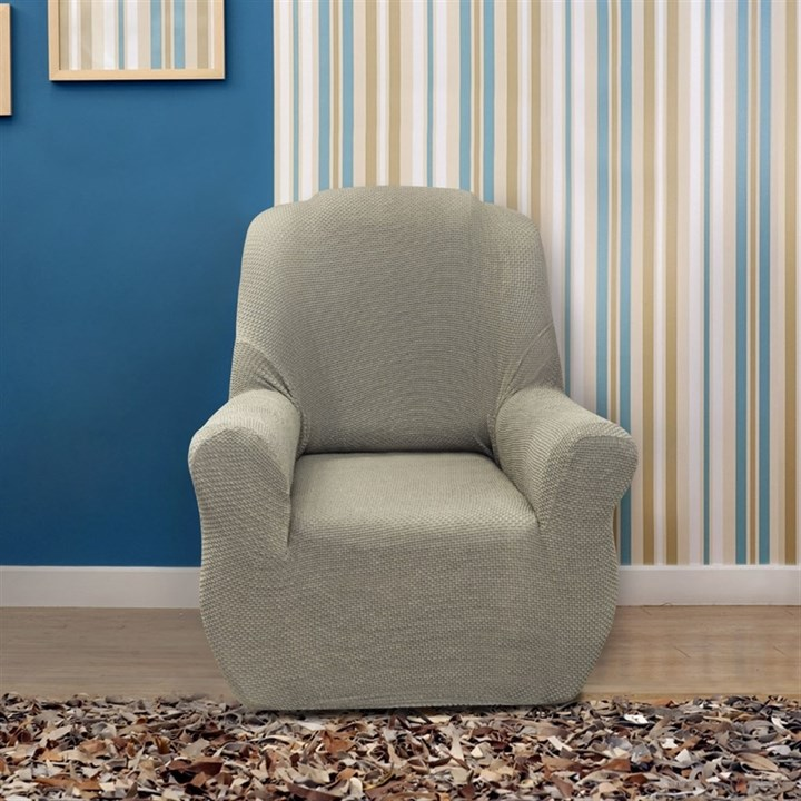 АЛЯСКА ГРИС КЛАРО Чехол на кресло от 70 до 110 см - фото 11913