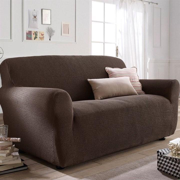 АЛЯСКА МАРОН Чехол на 2-х местный диван от 120 до 170 см - фото 11919
