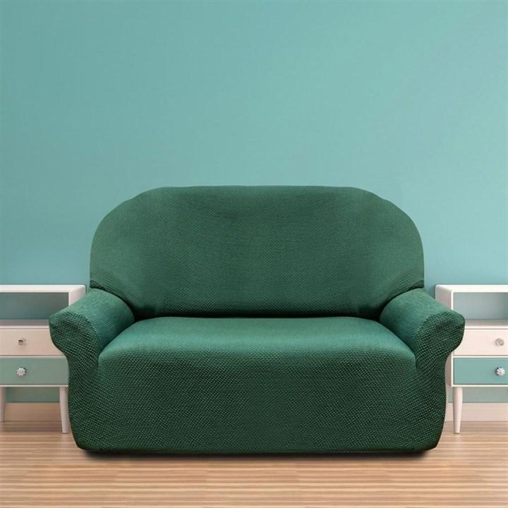 АЛЯСКА ВЕРДЕ Чехол на 2-х местный диван от 120 до 170 см - фото 11922