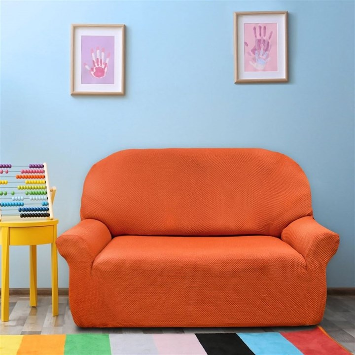 АЛЯСКА НАРАНИЯ Чехол на 2-х местный диван от 120 до 170 см - фото 11923