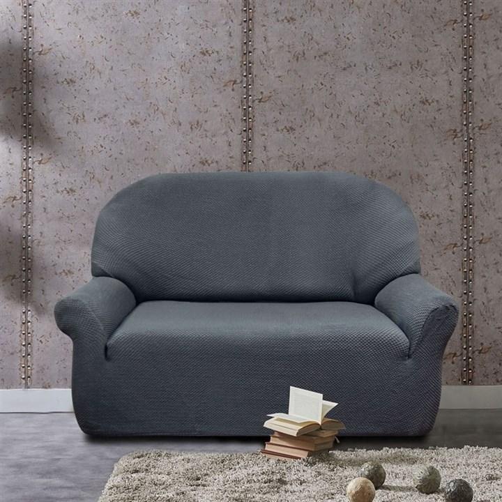 АЛЯСКА ГРИС Чехол на 2-х местный диван от 120 до 170 см - фото 11924