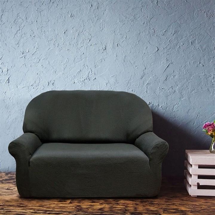 АЛЯСКА НЕГРО Чехол на 2-х местный диван от 120 до 170 см - фото 11925