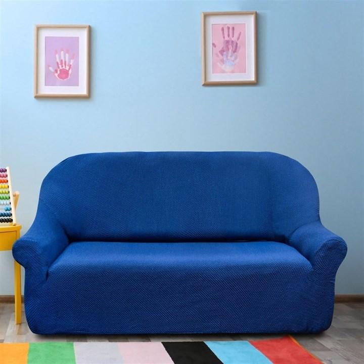 АЛЯСКА АЗУЛ Чехол на 3-х местный диван от 170 до 230 см - фото 11930